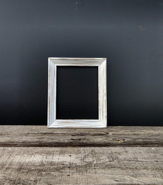 White Rustic Frame 8x10 Wooden Shabby Chic Frame Distressed Etsy