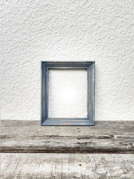 Grey Rustic Frame 8x10 Wooden Shabby Chic Frame Distressed Etsy