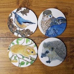 Metal Coasters Vintage Old Houseware Sporting Goods 6 Duck Geese Six