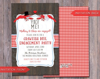 Crawfish Boil Baby Shower Invitations With Envelopes And Etsy