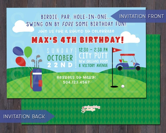 Putt putt mini golf birthday party invitations andor thank etsy image 0 filmwisefo