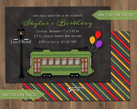 Items similar to Streetcar Invitations and/or Thank You Notes with ...