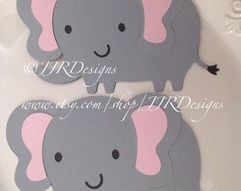 Elephant Cut Out Template | Elephant Cut Outs Elephant Die Cut Baby Shower Etsy