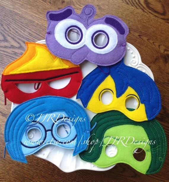 Set of 5-Feelings Mask- Joy Mask- Sadness Mask- Fear Mask