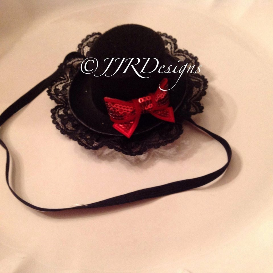 97bdfaf9795 Christmas 3Top Hat-Headband-Newborn Top Hat Baby Top