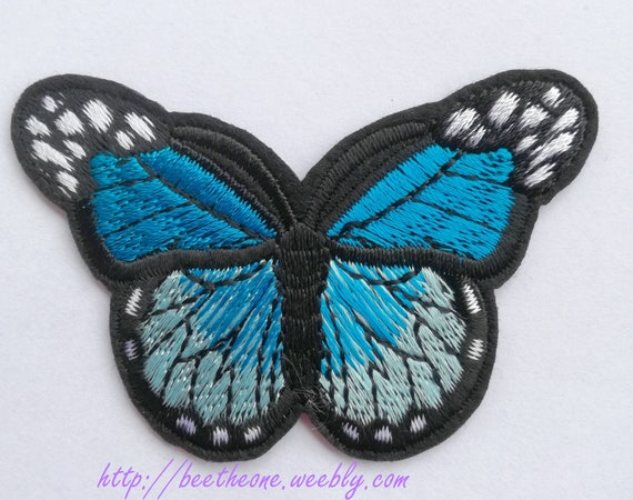 Blue Monarch Butterfly-free Shipping Iron on patches//sew On Patch