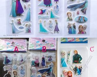 Disney Frozen (Elsa, Anna, Olaf, Kristoff...) stickers sheet for scrapbooking, stationery, decoration... - 6 different designs