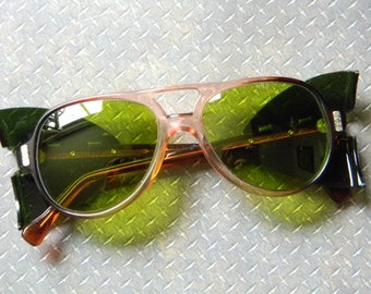 a3024c89b326 Cool Vintage Green Sunglasses with Side Shields - New Old Stock Eye  Protection Eyewear Mfg. by American Optical in Box - Never Worn