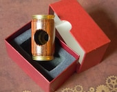 Artfully Designed Wood and Brass Private Eye Scope. Vintage Van Cort Instruments Polemoscope Side Angle Viewer