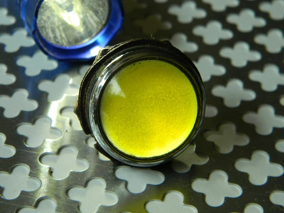 Beautiful Material for Makers and Crafty Steampunk Designers. Deep Yellow Glass Domed Lamp Cover Lens Pilot  Indicator Lamp Cover Jewel