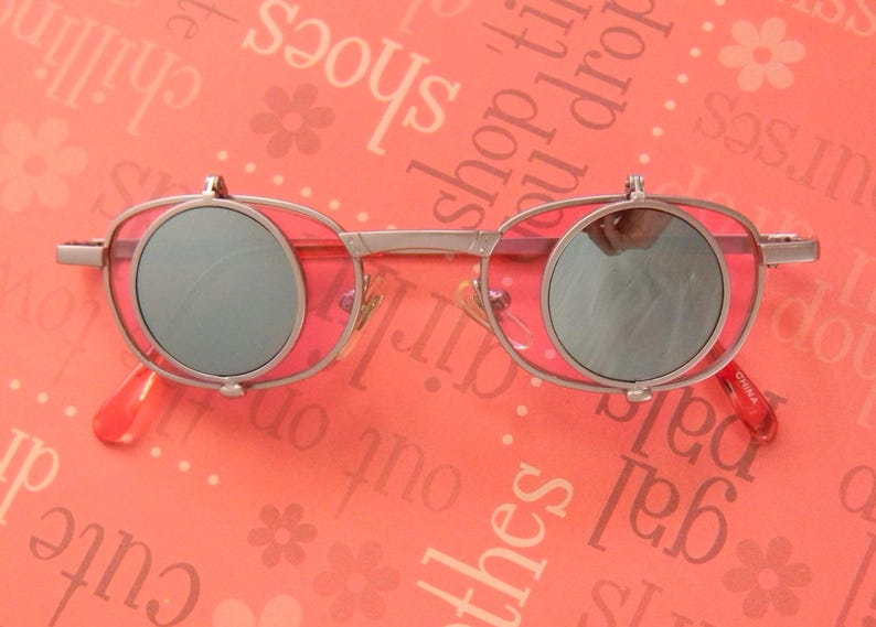 b19c6e6a40 Curious and Cool Vintage Neo-Victorian 4 Lens Flip Sunglasses.