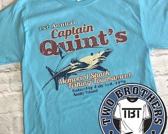 Captain Quint's Memorial Shark Fishing Tees