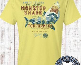 Amity Island-Monster Shark Fishing Tee