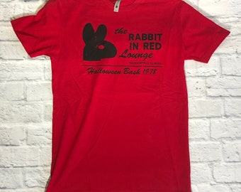 Halloween- The Rabbit In Red Lounge Tees