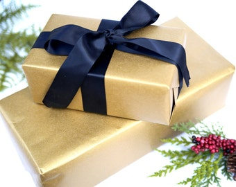 Gold Gift Wrap Paper - 5 ft Roll of Wrapping Paper