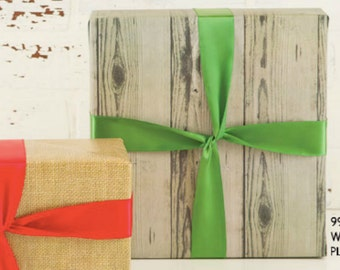Gray Faux Bois Wrapping Paper - Gift Wrap - 10 ft Jumbo Roll