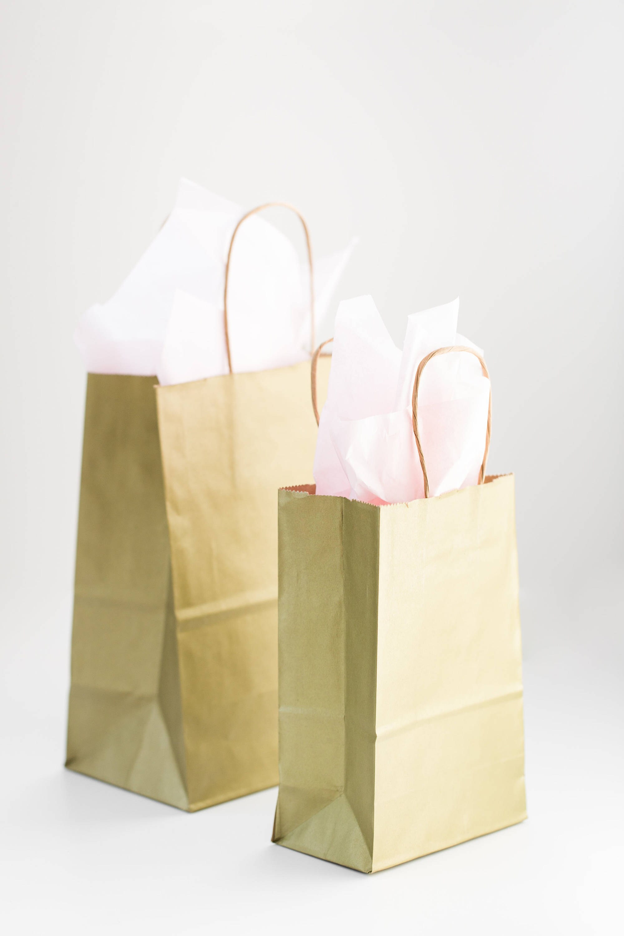 50 Gold Gift Bags with Handles for Wedding Guests, Welcome Bag ...