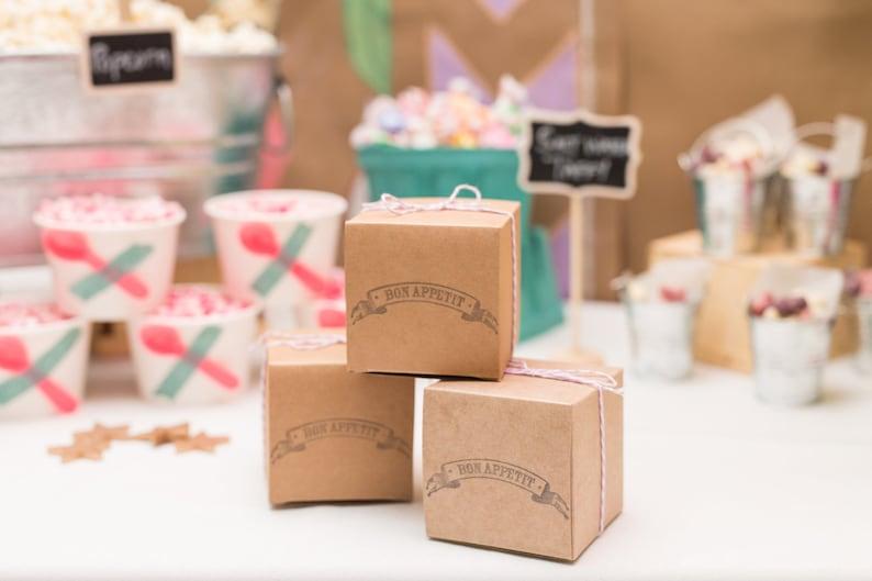 Gift Box with lid 4 x 4 x 4 Kraft