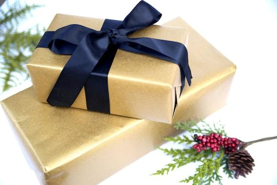 Emballage De Cadeau Or 5 Pieds Rouleaux Métallisé Or Rouleau Etsy