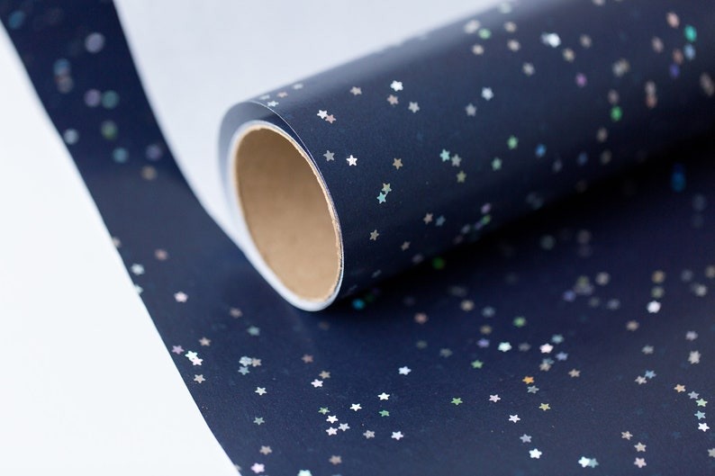 Wrapping Paper Jumbo Roll 20 SQ FT | Navy Blue Gift Wrap Paper with Petite  Stars |Christmas Wrapping Ideas |Gender Neutral | Mens & Women's