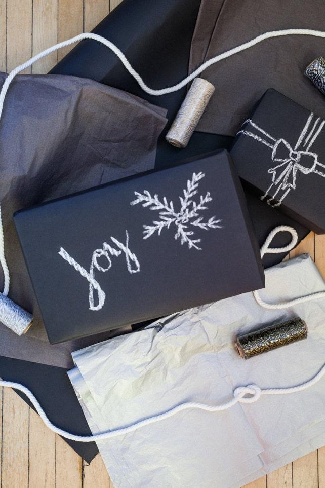Matte Black Gift Wrap