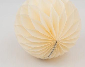 Cream Honeycomb Ball  8 inch | Honeycomb Decoration