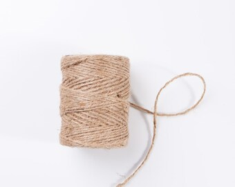 Jute Twine 100 feet | Natural Jute Twine | Home & Garden Supply | Decorative Twine | Wedding Decor | Rustic Home Decor | Rustic Wedding