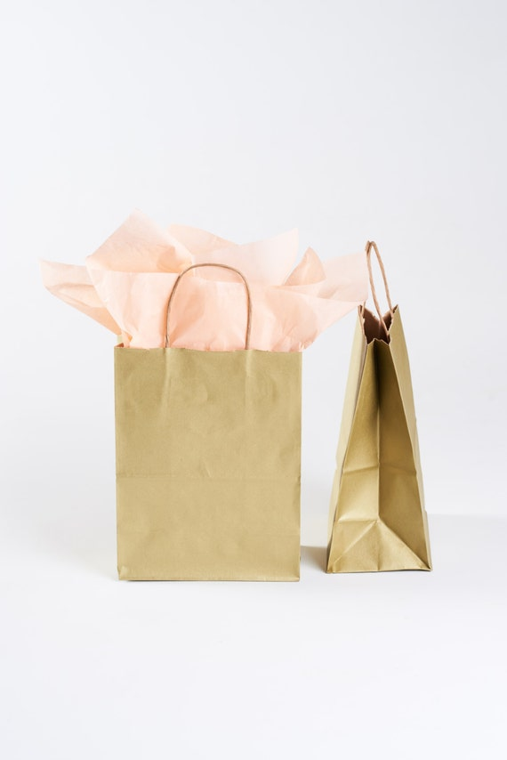75 Gold Gift Bags With Handles For Wedding Guests Welcome Etsy