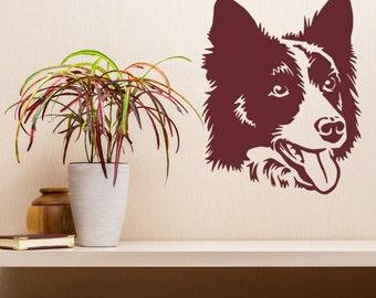 Border Collie Infinity sticker *H400* 4 x 8.5  inch vinyl dog love decal
