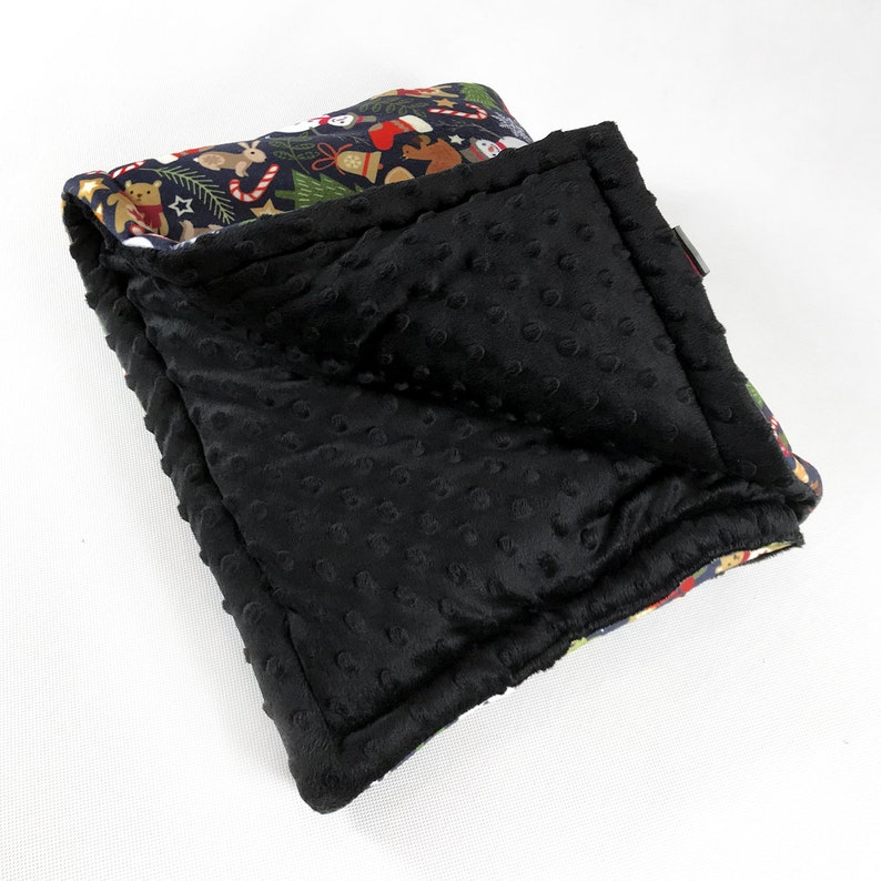 Dog Blanket Pet Bedding Winter is coming Double sided blanket with anti-allergic filling Mat Plaid Psiakrew Design black minky free shipping