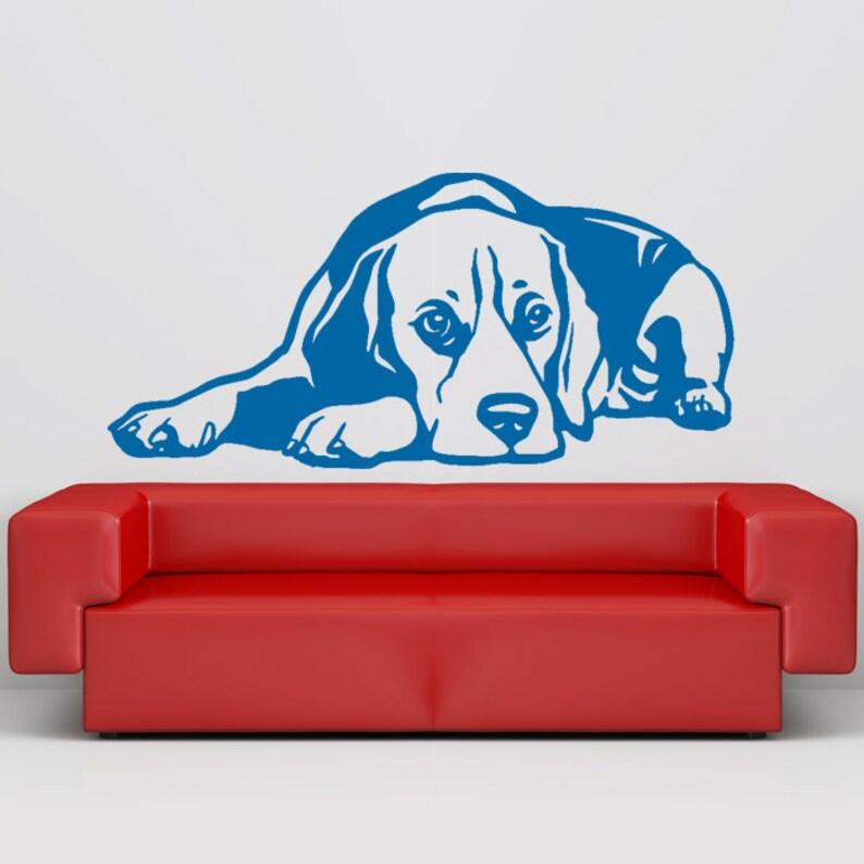 Hund Aufkleber Beagle liegend, Vinyl-Aufkleber - gut für Wände, Autos,  Ipads, Spiegel etc.