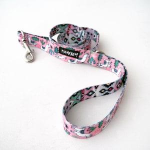 Dog Leash Dog Tattoo Flash width 2.5 cm colorful designed pet leashes Psiakrew for medium and large dogs 1
