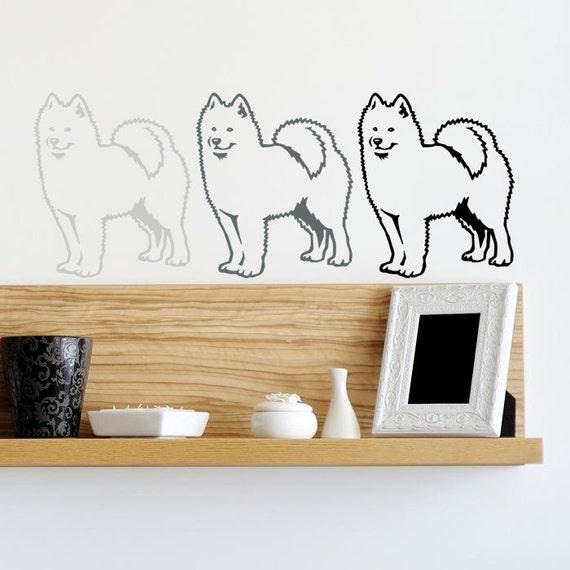 Hund Aufkleber Samojede, Vinyl-Aufkleber - gut für Wände, Autos, Ipads,  Spiegel etc.