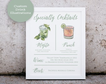 Signature Drink Sign // Wedding Cocktail Sign