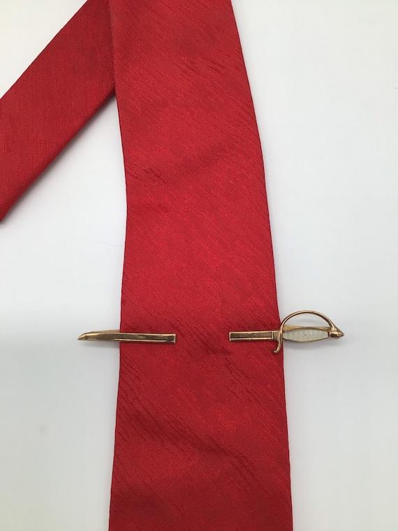 Freemason Tie Bar vintage Scimitar Shriners Tie Clip Mid Century Necktie Accessory Formal Wear