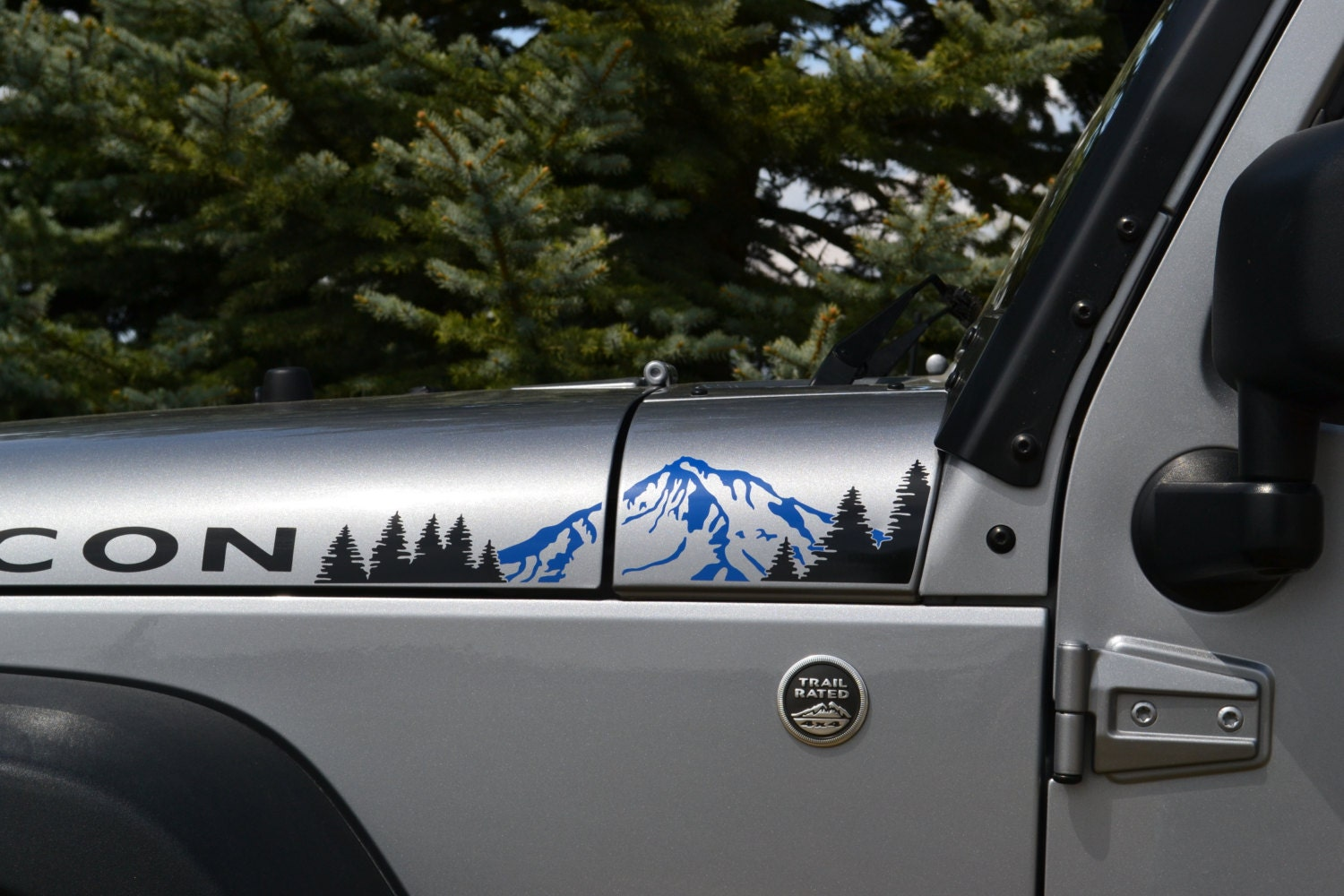 Jeep wrangler jk 2007 2018 2 color extended hood with etsy