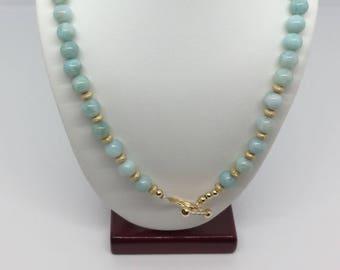 Reversible Larimar Necklace