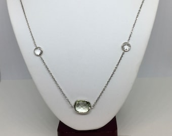 Green Amethyst Long Necklace