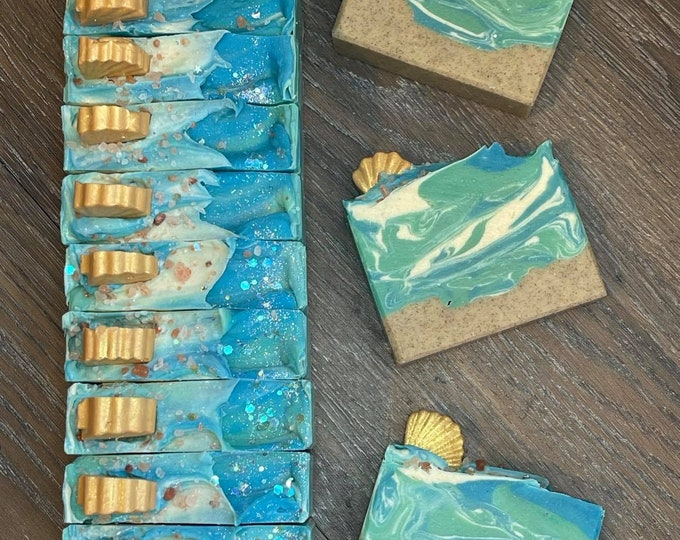 Salty Beach Soap  *  Moisturizing  *  Exfoliating  *  Goat Milk  *  Shea Butter  *  Great Gifts  *  NEW LARGER SIZE