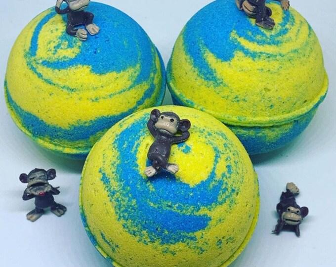 Monkey Farts Bath Bombs * Kids Bath Bombs * Toy Inside * Moisturizing * Coconut Milk Powder * Fun Toy Bath Bomb