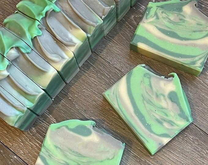 Irish Spring Fresh & Clean   l   Goat Milk Soap   l   Aloe Vera   l   Moisturizing   l   Cold Process Soap   l   Sunflower Oil