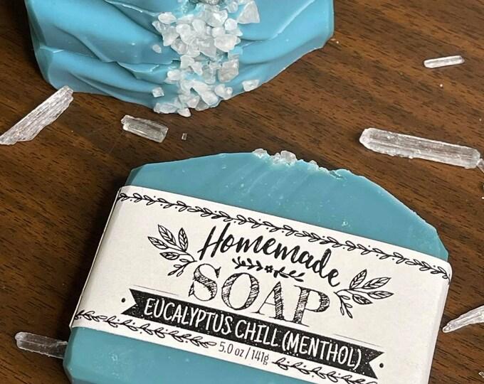Eucalyptus Chill Menthol Soap   l   Goat Milk Soap   l   Moisturizing   l   Kaolin Clay   l   Natural Soap   l  Cooling Effect