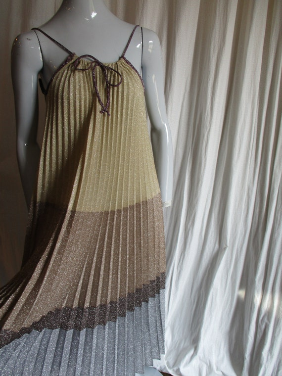 1970's Giorgio Sant Angelo Sparkle Pleated Disco B