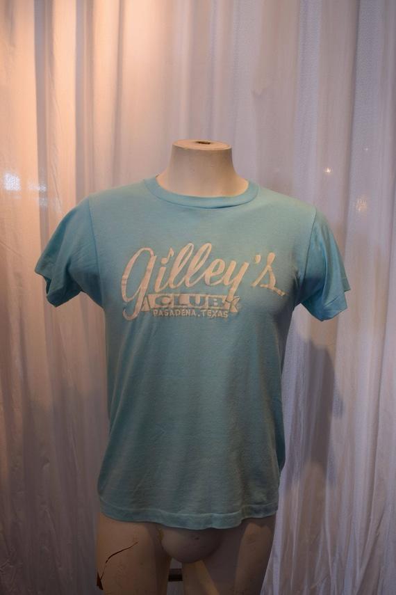 Icon Tee Shirt Gilley's 1970's Deadstock Acqua Blu