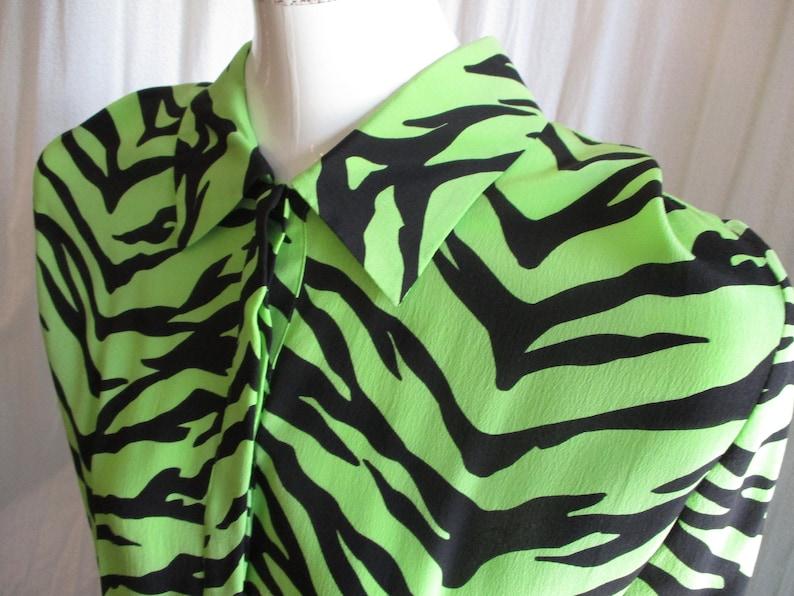 1990 Moschino Dress Punk Zebra Cheap Chic