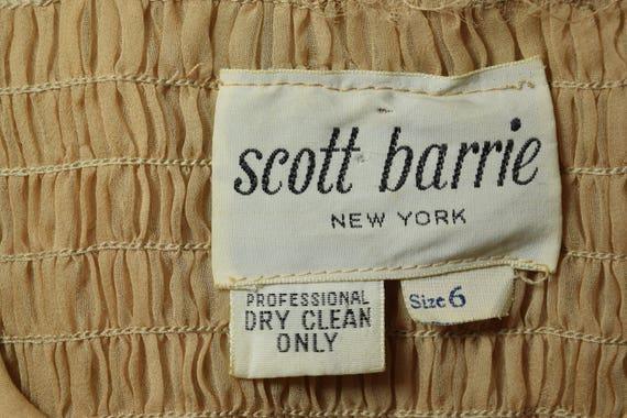 1970's Scott Barrie Silk Goddess Fortuny Dress Bo… - image 9