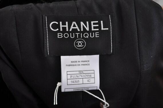 1990's Chanel Velvet Bomber Paris Logomania Black