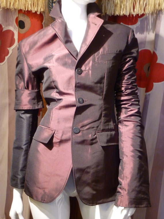 1990 Jean Paul Gaultier Straitjacket Iridescent France Mobster Victorian by Etsy
