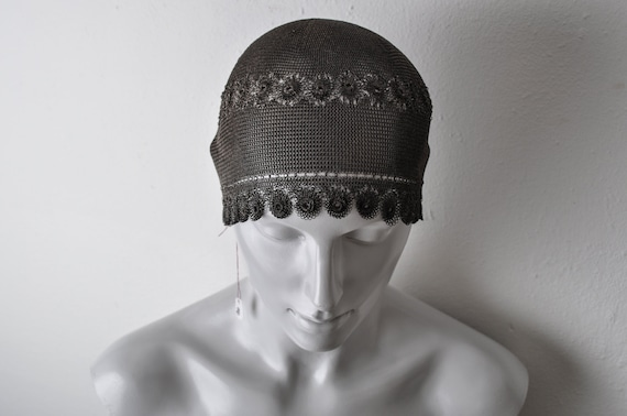 1920's Sterling Silver Skull Cap Chain Mail Links… - image 4