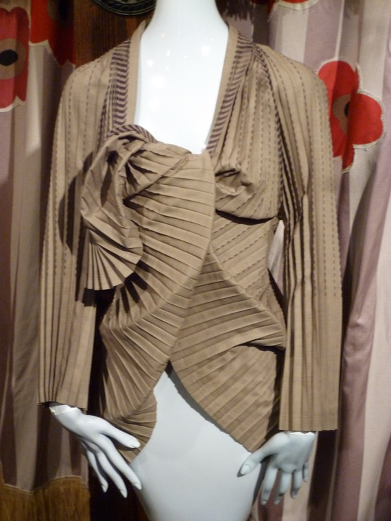 Issey Miyake 1990 Art Wrap Jacket Fortuny Couture